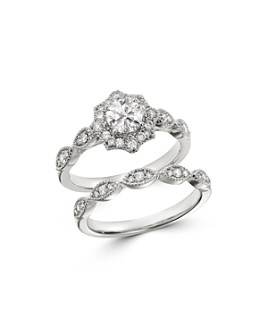 Bloomingdale's - Diamond Milgrain Engagement Ring in 14K White Gold, 1.0 ct. t.w. - 100% Exclusive