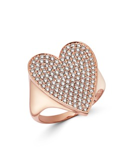 Bloomingdale's - Pavé Diamond Heart Ring in 14K Rose Gold, 1.0 ct. t.w. - 100% Exclusive