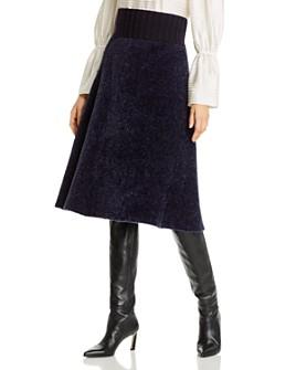 Tory Burch - Metallic Detail Sweater Skirt