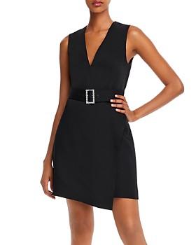BCBGMAXAZRIA - Satin Belted Shift Dress
