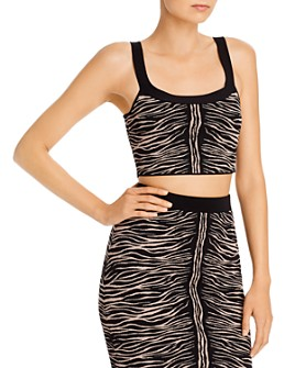 GUESS - Mirage Zebra Jacquard Cropped Top