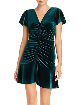 AQUA - Ruched Velvet Dress - 100% Exclusive