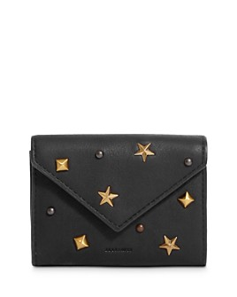 ALLSAINTS - Mazzy Studded Small Leather Card Case