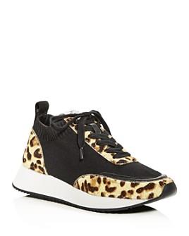 Loeffler Randall - Women's Remi Calf Hair Low-Top Sneakers
