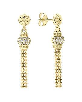 LAGOS - 18K Yellow Gold Caviar Gold Diamond Tassel Earrings