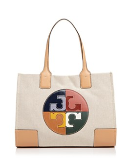 Tory Burch - Ella Color-Block Logo Small Fabric Tote