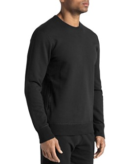 REIGNING CHAMP - Side-Zip Crewneck Sweatshirt
