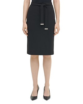 Calvin Klein - Belted Pencil Skirt