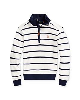 Ralph Lauren - Boys' Striped Quarter-Zip Sweatshirt - Little Kid