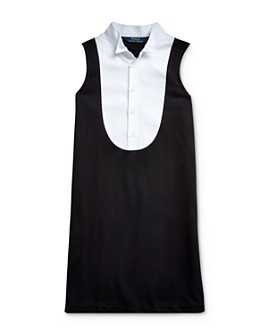 Ralph Lauren - Girls' Ponte Tuxedo Dress - Big Kid