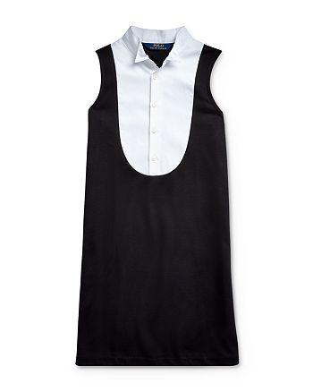 Ralph Lauren - Girls' Ponte Tuxedo Dress - Big Kid