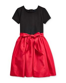 Ralph Lauren - Girls' Mixed-Media Dress - Big Kid