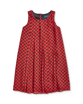 Ralph Lauren - Girls' Buffalo Check Pleated Dress - Little Kid