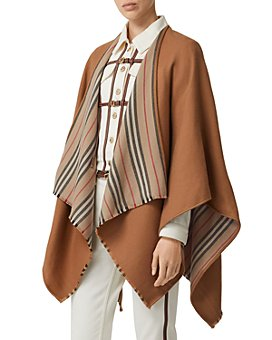 Burberry - Icon Stripe Wool Cape