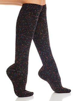 HUE - Graduated Compression Tweed Knee Socks