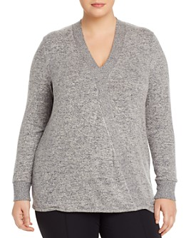 B Collection by Bobeau Curvy - Mavis Cozy Faux-Wrap Top