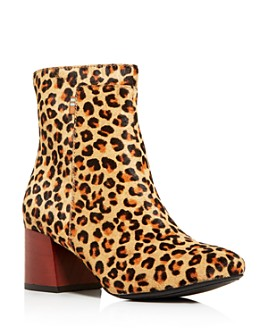 TOMS - Women's Emmy Leopard-Print Calf Hair Block-Heel Booties