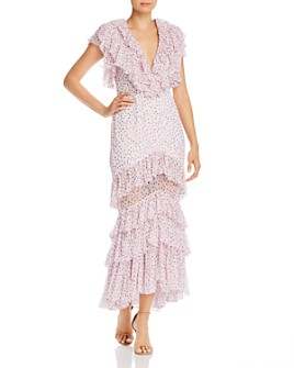 Acler - Wendall Ruffled Dot-Print Dress