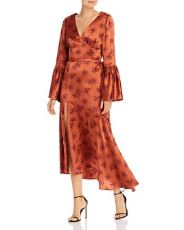 Cinq à Sept - Kasha Printed Silk Bell-Sleeve Dress