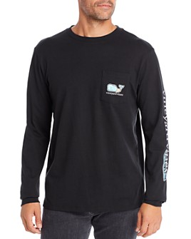 Vineyard Vines - Zombie Whale Long-Sleeve Pocket Tee