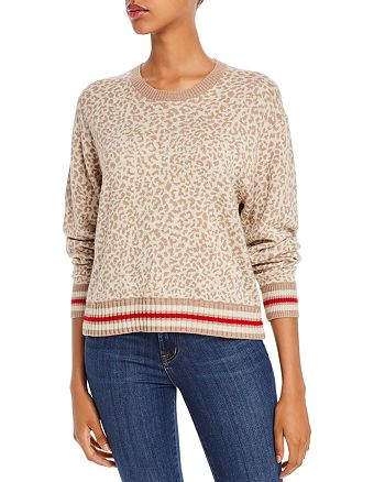 Splendid - Leopard-Pattern Crewneck Sweater
