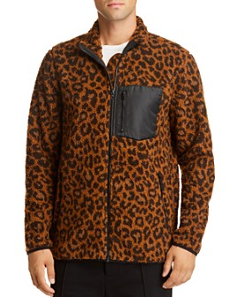 Pacific & Park - Leopard Sherpa Regular Fit Fleece Jacket - 100% Exclusive