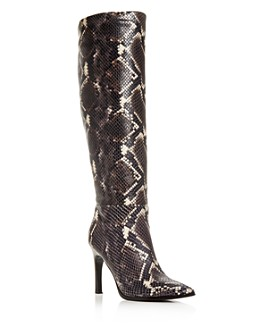 Sigerson Morrison - Women's Kailey Snake-Embossed High-Heel Boots