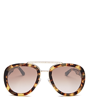 Miu Miu Women\\\'s Brow Bar Aviator Sunglasses, 53mm-Jewelry & Accessories