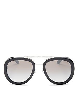 Miu Miu Women's Brow Bar Aviator Sunglasses, 53mm