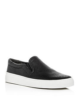 Via Spiga - Women's Sara Snake-Embossed Slip-On Sneakers
