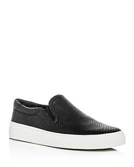 Via Spiga - Women's Sara Snake-Embossed Slip-On Sneakers