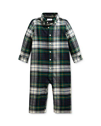Ralph Lauren - Boys' Plaid Twill Coverall - Baby
