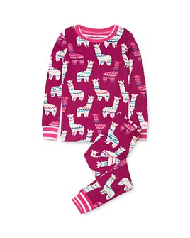 Hatley - Girls' Llama Print Tee & Llama Print Pants Pajama Set - Little Kid, Big Kid