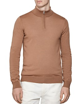 REISS - Blackhall Half-Zip Wool Sweater