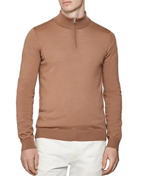 REISS - Blackhall Half-Zip Wool Sweater