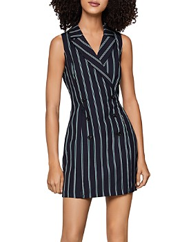 BCBGENERATION - Pinstriped Tuxedo Dress
