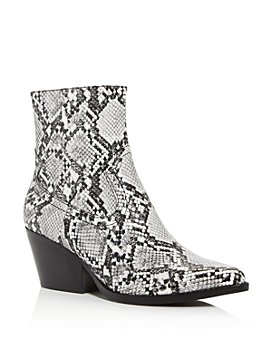 Jeffrey Campbell - Women's Kelam Snake-Embossed Pointed-Toe Booties