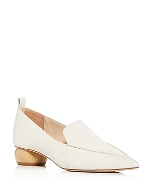 Jeffrey Campbell Women\\\'s Embossed Pointed Apron-Toe Loafers