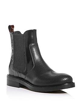 Jeffrey Campbell - Women's Mixed-Media Chelsea Boots