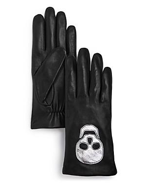 Aqua Skull Leather Tech Gloves - 100% Exclusive