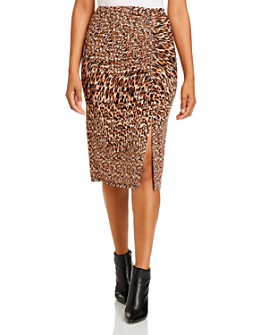 Kenneth Cole - Leopard-Print Skirt