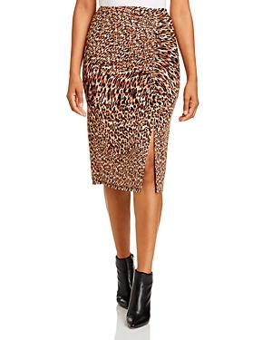 Kenneth Cole Leopard-Print Skirt
