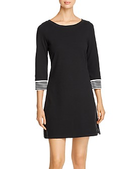 Tommy Bahama - Striped-Cuff Knit Dress