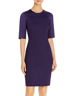 BOSS - Danufa Satin-Sleeve Sheath Dress