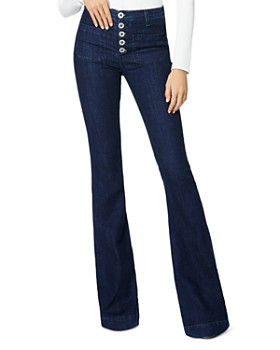 Ramy Brook - Cindy High-Rise Flare-Leg Jeans in Dark Wash