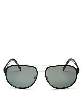 Prada - Men's Polarized Brow Bar Aviator Sunglasses, 60mm