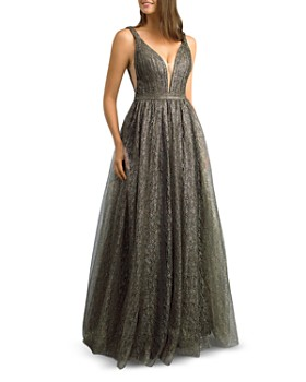 Basix - Metallic Lace Gown