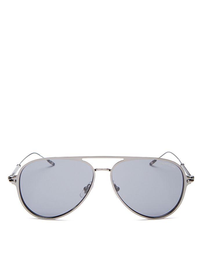 Montblanc - Men's Brow Bar Aviator Sunglasses, 59mm