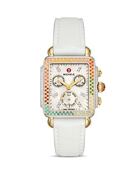 MICHELE - Carousel Two-Tone Diamond Chronograph Watch, 33mm x 35mm