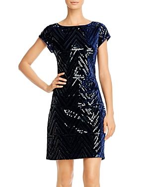 Eliza J Sequin Velvet Sheath Dress-Women